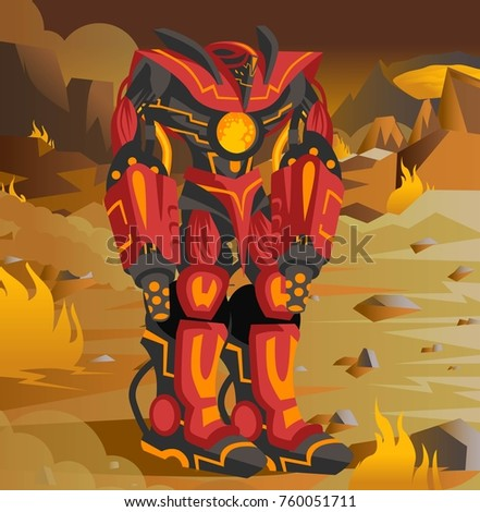 giant red robot