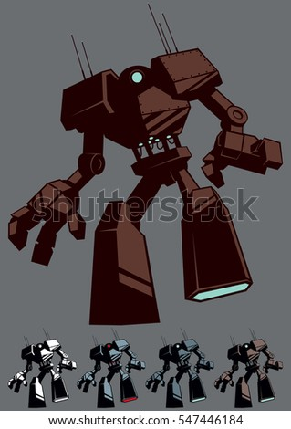 giant robot in 5 color versions