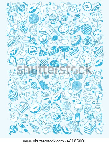 Giant Sweet Party Set (vector)
