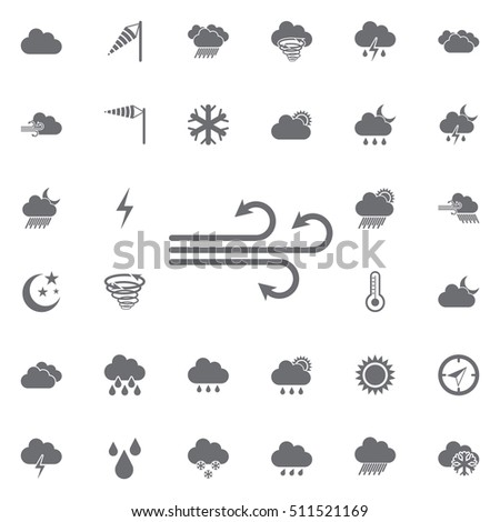 giddily icon. Weather icons universal set for web and mobile
