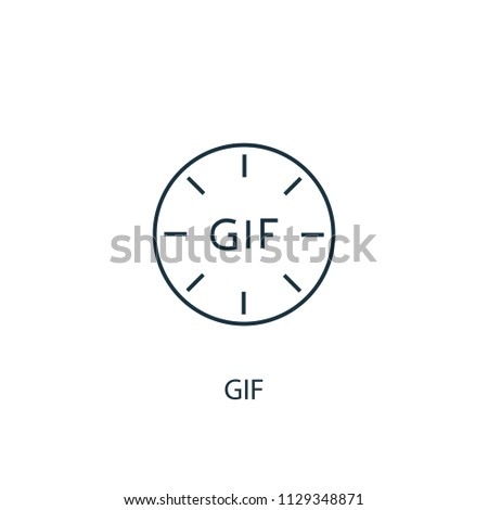 gif concept line icon. Simple element illustration. gif concept outline symbol design from Message set. Can be used for web and mobile UI/UX