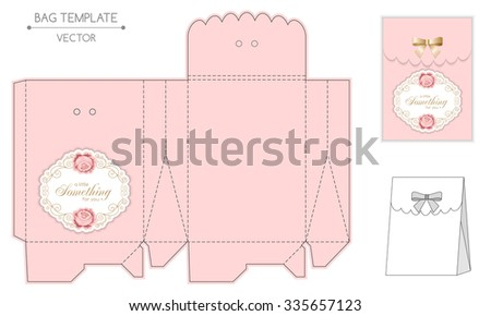 gift bag template with hand