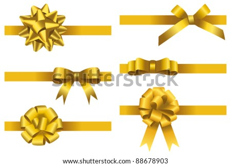 Gift bow collection. Vector