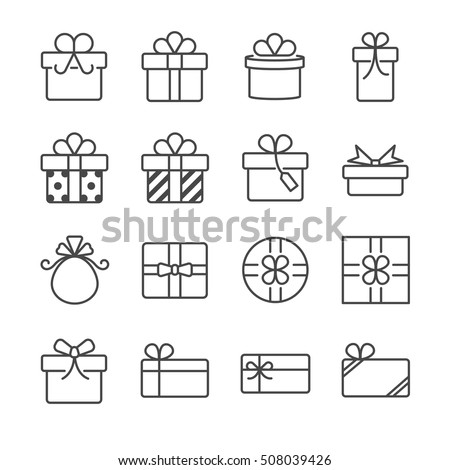 Gift box and present icons
