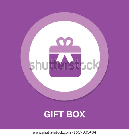 Gift box icon - birthday present