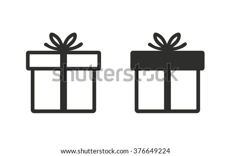 Free gift box vector gift box icon on white background vector illustration negle