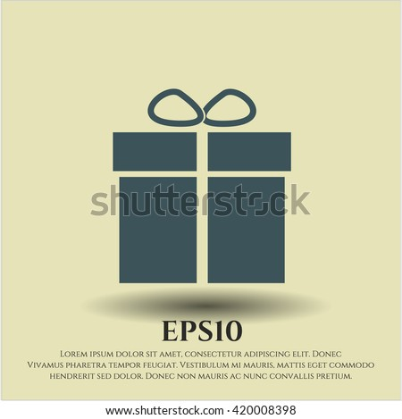 Gift box icon or symbol