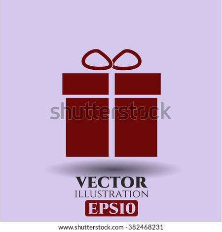 Gift box icon vector illustration