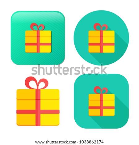 gift box icon - vector present icon - holiday celebration symbol