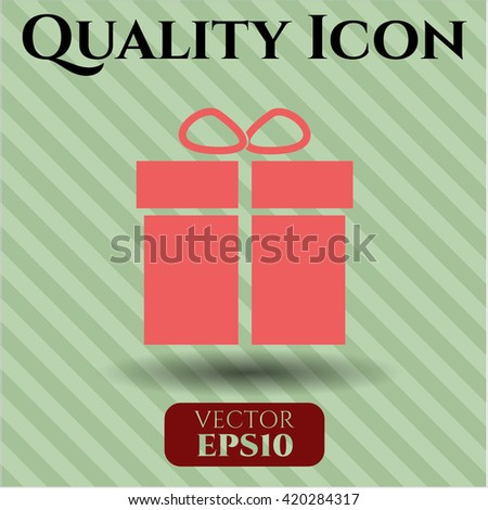 gift box icon vector symbol flat eps jpg app web concept website