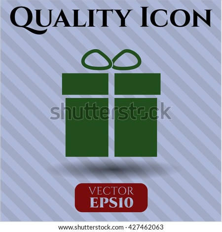 gift box icon vector symbol flat eps jpg app web concept website