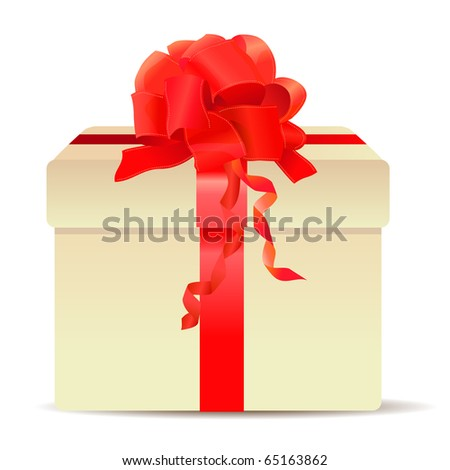 Gift box isolated on white background - stock vector