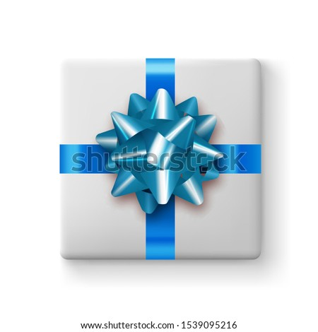 Gift box realistic. 3D realistic icons. Vector illustration
