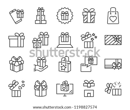 gift box set icons