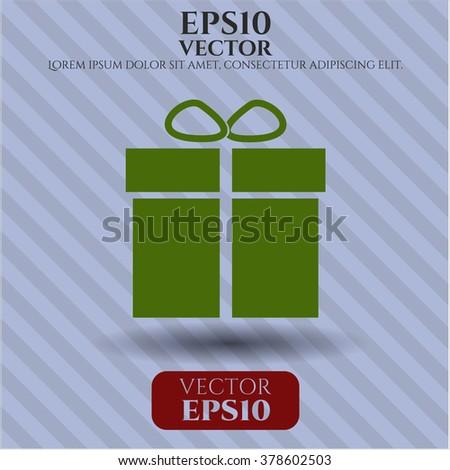 Gift box symbol