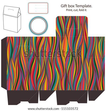 gift box blank template