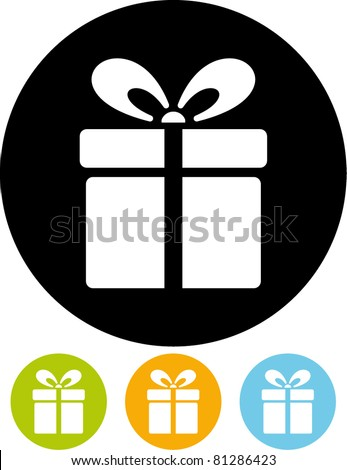 Gift box – Vector icon - stock vector