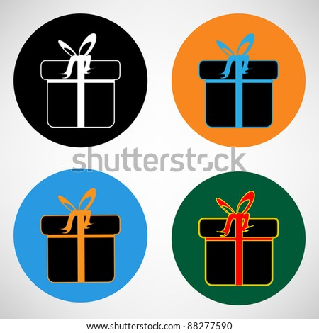 Gift box ? Vector icon