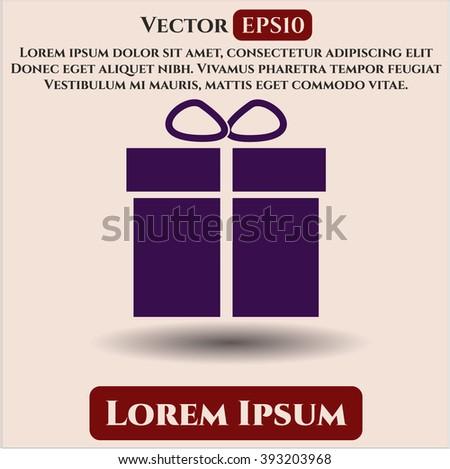 Gift box vector icon or symbol