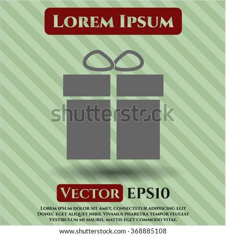 Gift box vector symbol