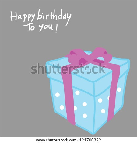 gift box with happy birthday text