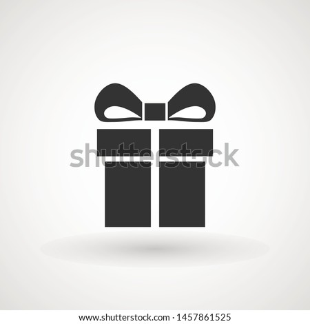 Gift box with ribbon icon, Gift card icon vector. Trendy flat design style on white background. vector sign, linear style pictogram isolated on white. Symbol, logo illustration.