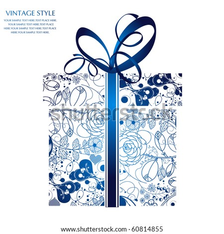 Gift box-xmas - stock vector