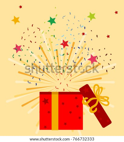 Gift boxes, presents isolated on white. Colorful wrapped. Sale, shopping concept. Collection for Birthday, Christmas. For Vector Cartoon flat design