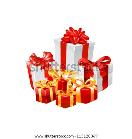 Gift boxes. Vector