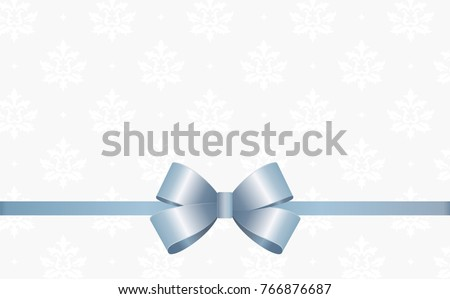 gift card with blue ribbon and