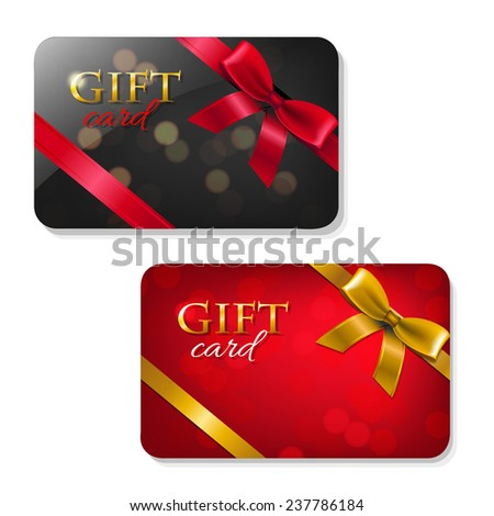 gift cards big set with