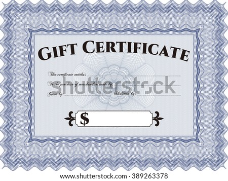 Gift certificate. Easy to print. Cordial design. Detailed.