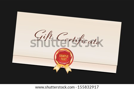 Gift Certificate isolated on black
