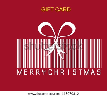 gift concept with codebar over red background. vector