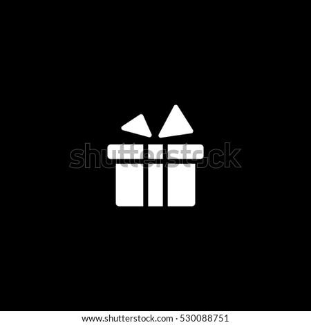gift icon, isolated, white background