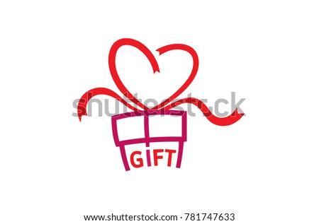 gift love abstract logo symbol