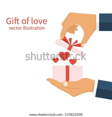 gift of love concept happy