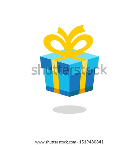 gift present box icon vector illustration with a ribbon bow