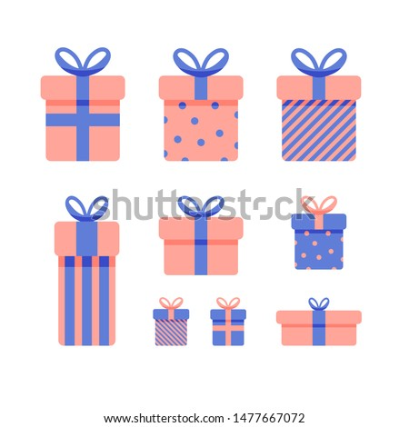 gift present vector white background isolated