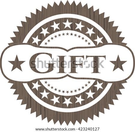 Gift retro style wood emblem