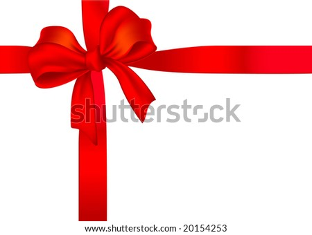 Gift ribbon. Vector.