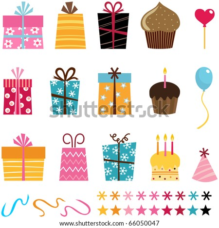 gift set and other birthday elements