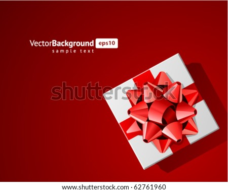 Gift top view vector background. Eps 10