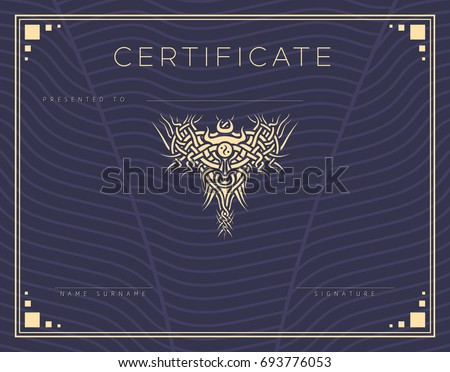 Diploma template download free vector art stock graphics images gift vector certificate diploma award template with border and celtic pattern strips and yadclub Images