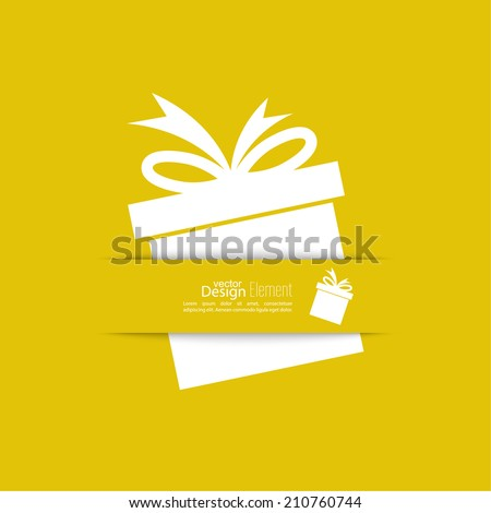 Gift vector icon.