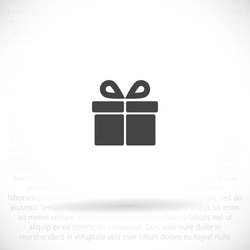gift Vector icon . Lorem Ipsum Illustration design