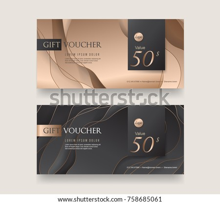 abstract style creative sale voucher design template - Download Free ...