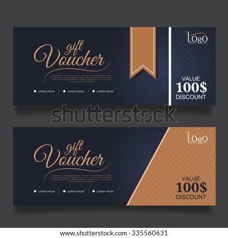 Gift Voucher Premier Gold.Vector