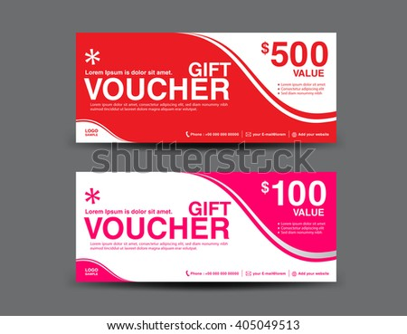 Gift Voucher template, coupon design,ticket,vector illustration,business banner template,invitation,card design Photo stock ©