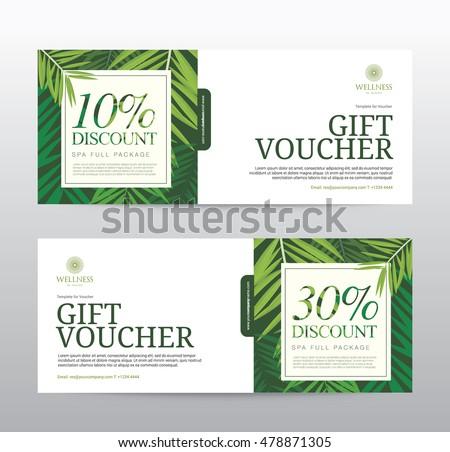 Gift Voucher template for Spa, Hotel Resort, Vector illustration